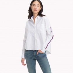 TJW OVERSIZED TAPE DETAIL SHIRT CAMICIA DONNA